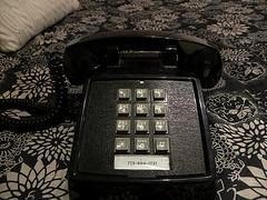 black telephone - pushbutton style