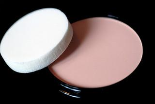 cream makeup and sponge applicator