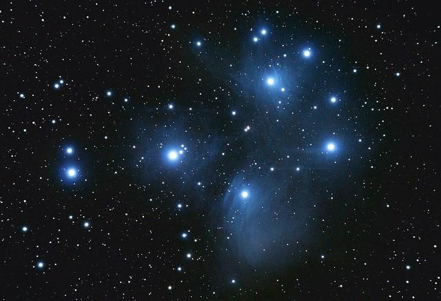 stars glowing against night sky